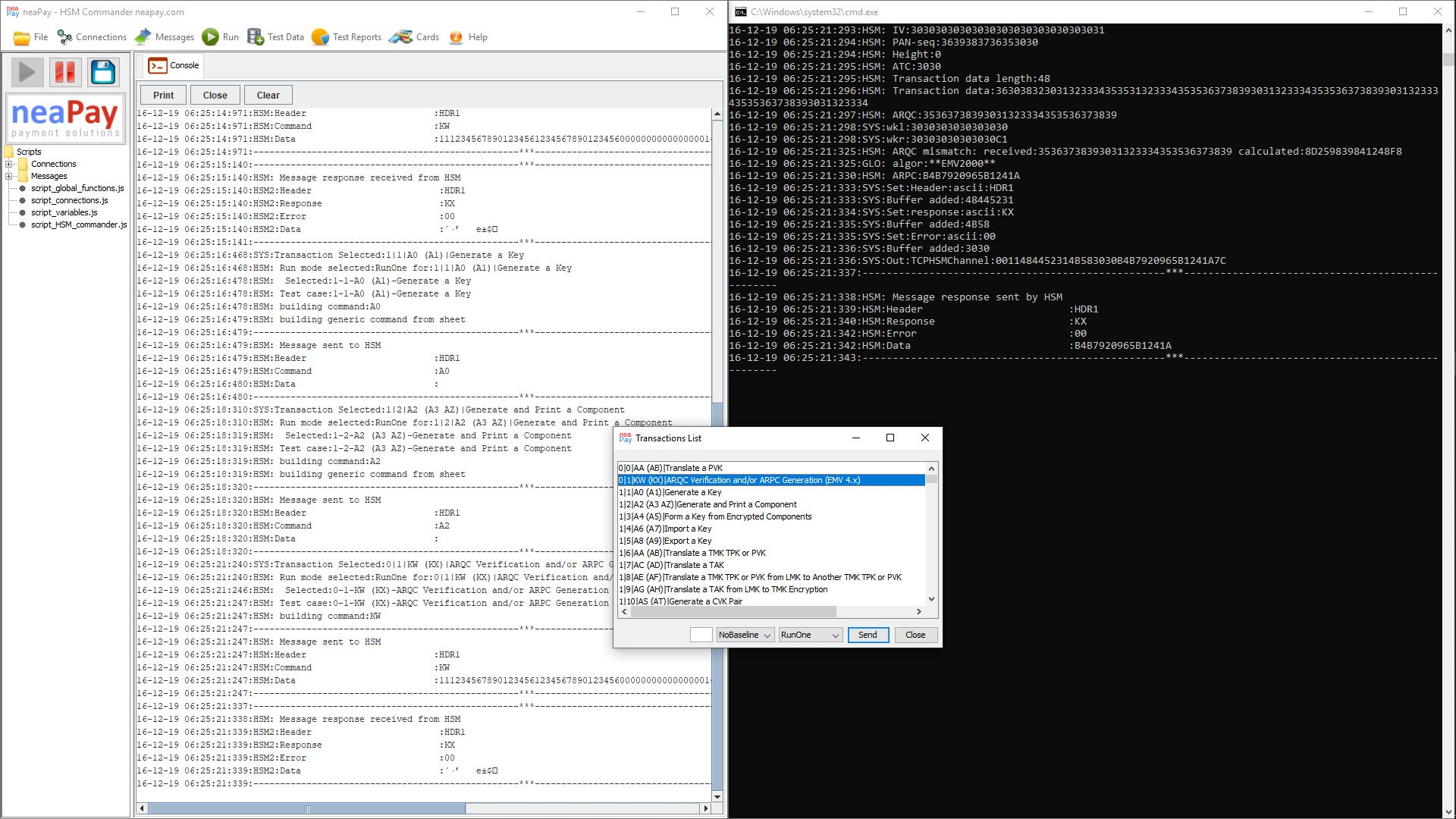 Deploy the neaPay HSM simulator in a test environment