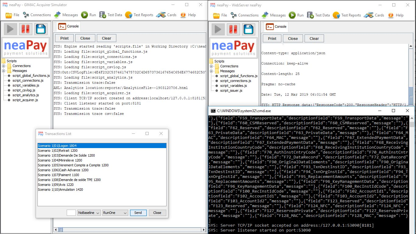 Deploy the neaPay ISO8583 Payments converter in a test environment